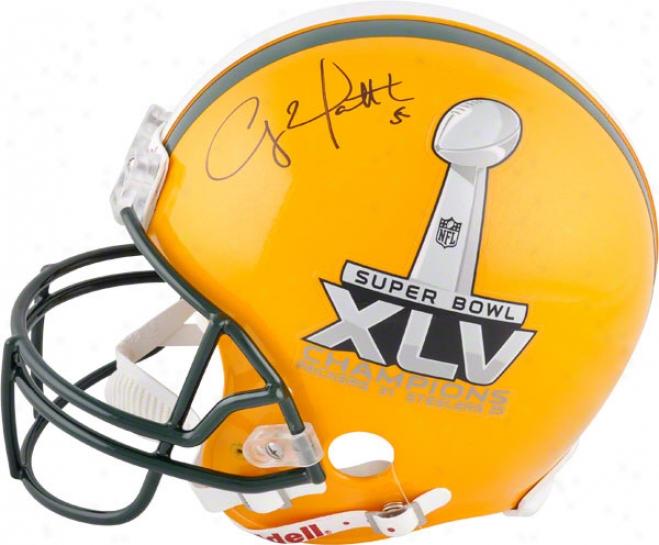 Clay Matthews Autographed Pro-line Helmet  Details: Unripe Bay Packers, Half And Half, Super Bowl Xl\/ Champions Logo