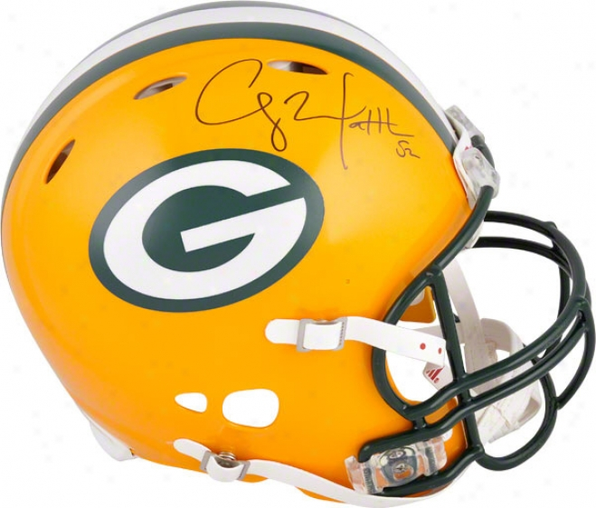 Clay Matthews Autographed Pro-line Helmet  Details: Green Bay Packers, Authentic Riddell Revolution Helmet