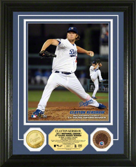 Clayton Kershaw Los Angeles Dodgers 2011 N.l Cy Young Photo Mint