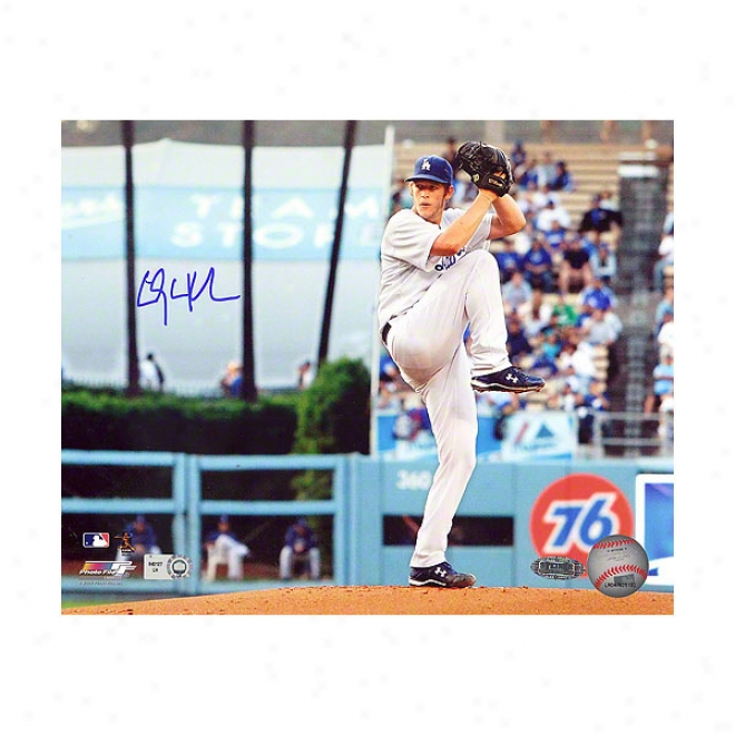 Clayton Kershaw Los Anveles Dodgers 8x10 Winding U; To Pitch Autographed Photograph