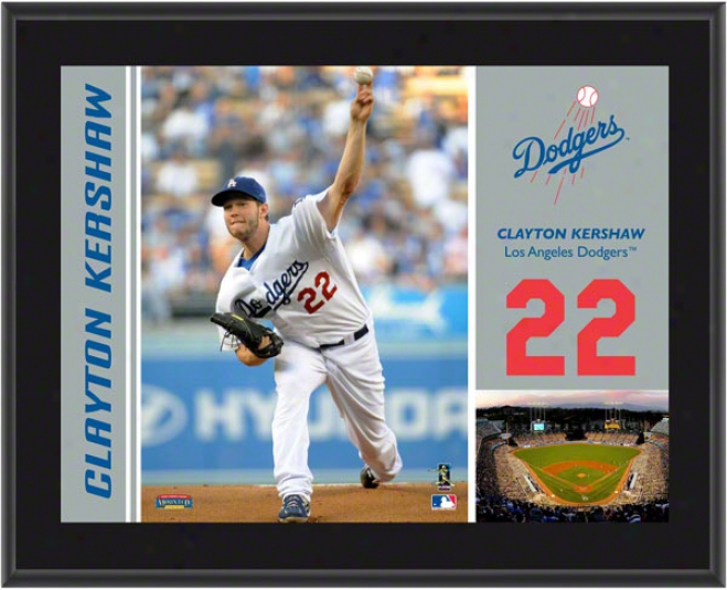 Clayto Kershaw Plaque  Details: Los Angeles Dodgers, Sublimated, 10x13, Mlb Plaque