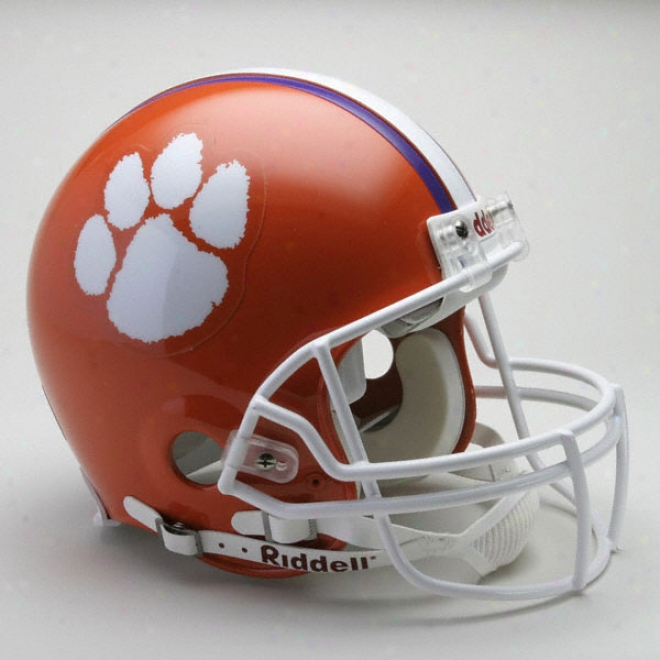 Clemson Tigers Authentic Pro Line Riddell Full Size Helmet