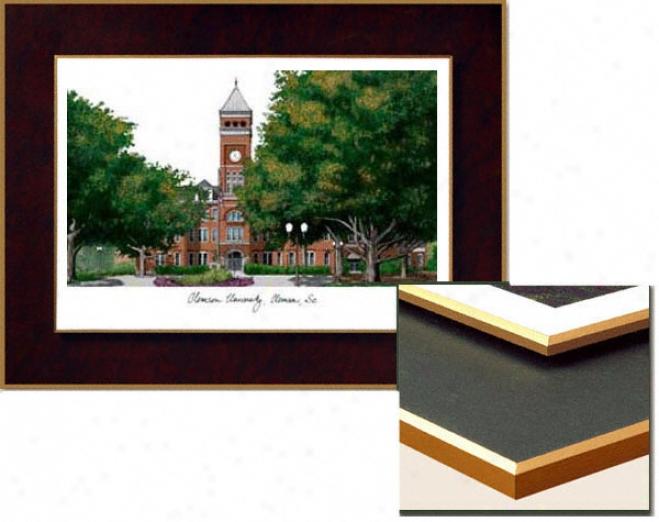 Clemson Tigers Collegiate Laminated Lithograph