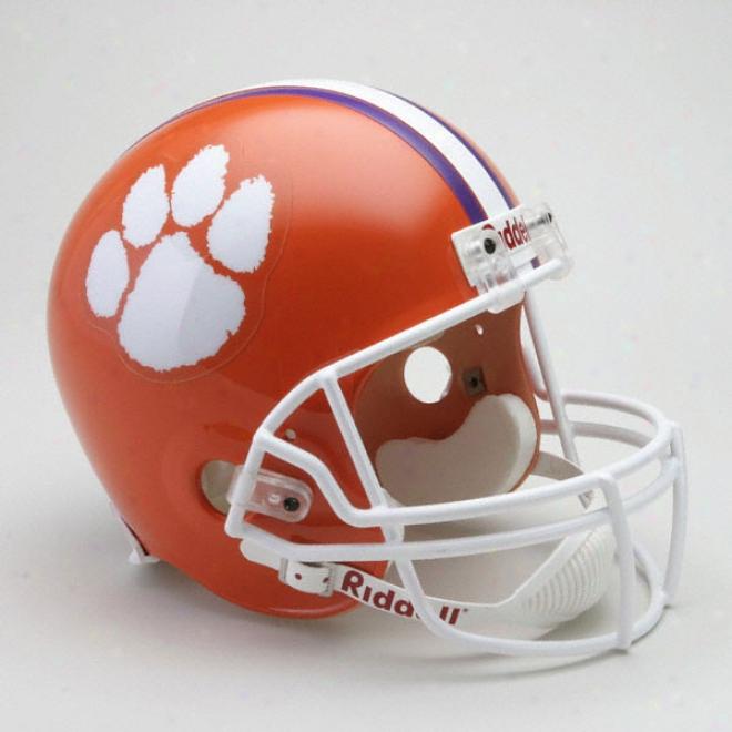 Clemson Tigers Deluxe Replica Riddell Helmet
