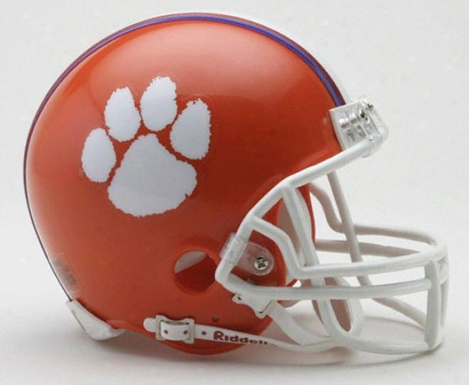Clemson Tigers Riddell Mini Helmet