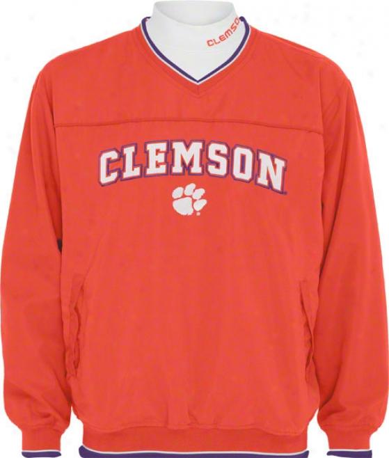 Clemson Tigers Windshirt/long Sleeve Mockneck Combo Pack