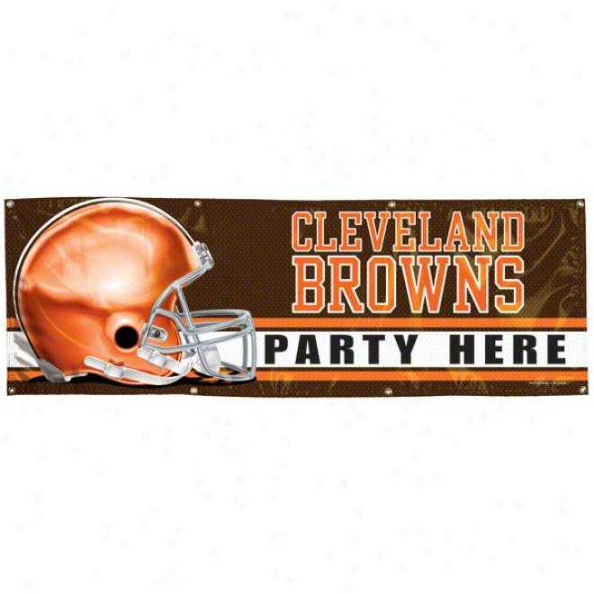 Cleveland Browns 2x6 Vinyl Banner