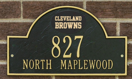 Cleveland Browns Black And Gold Personalized Discourse Wall Plaque