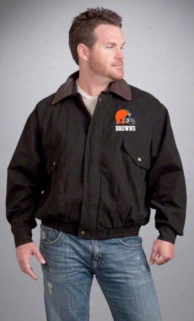 Cleveland Brownz Jacket: Black Reebok Navigator Jacket