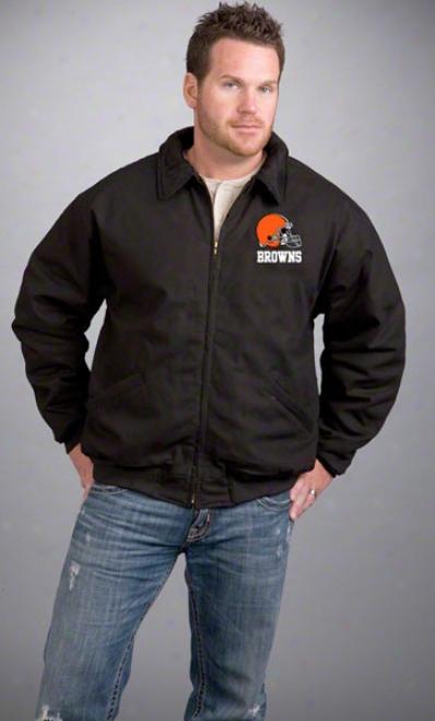 Cleveland Browns Jacket: Black Reebok Saginaw Jacket