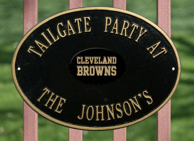 Cleveland Browns Personalizsd Black And Gold Indoor/outdoor Plaque