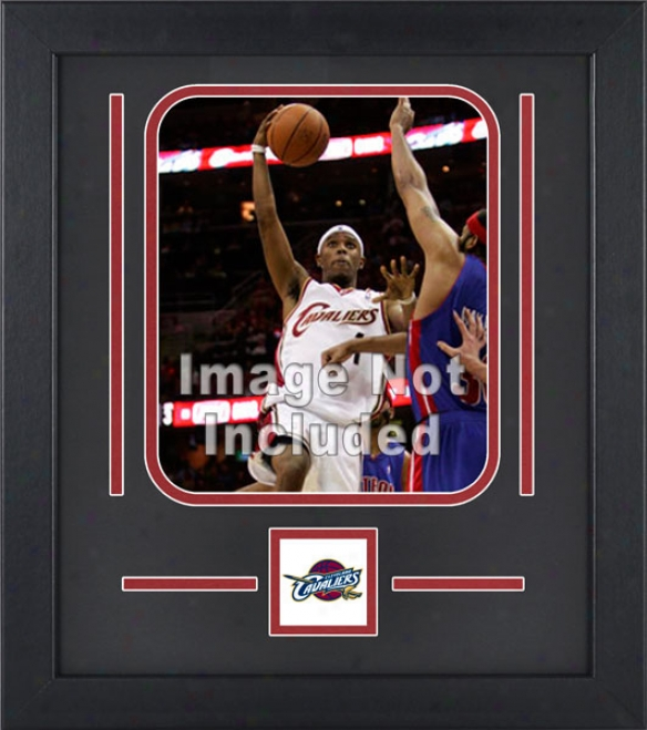 Cleveland Cavaliers 8x10 Perpendicular Setup Frame With Team Logo