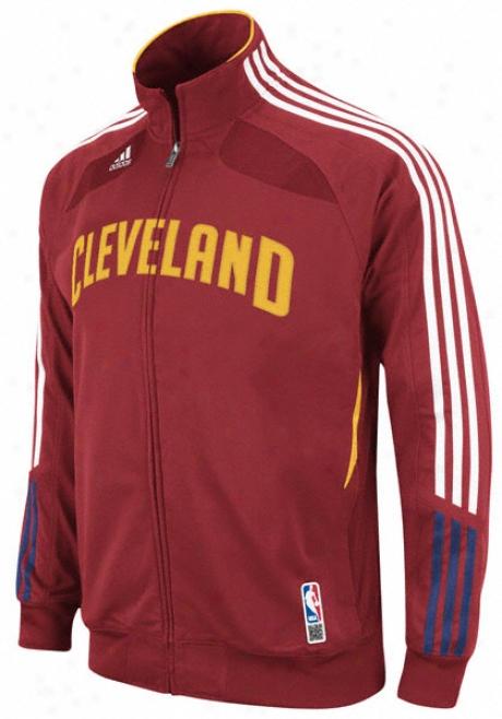 Cleveland Cavaliers Adidas On-court Warm Up Jacket