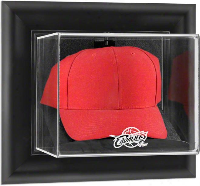 Cleveland Cavalisrs Framed Wall Mounfed Logo Cap Display Case