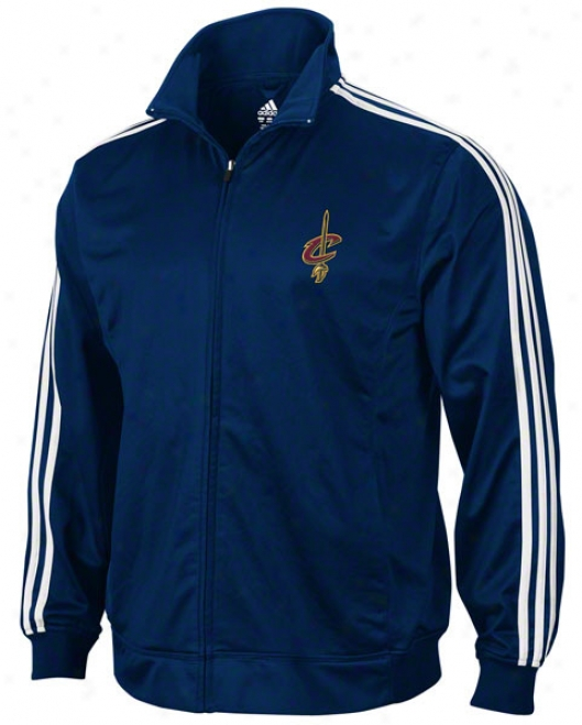 Cleveland Cavaliers Full Color Logo 3-stripe Full-zip Track Jacket
