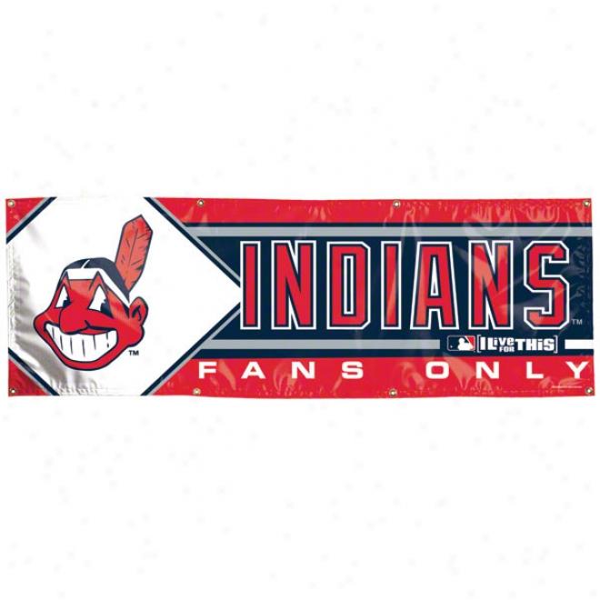 Cleveland Indians 2x6 Vinyl Banner