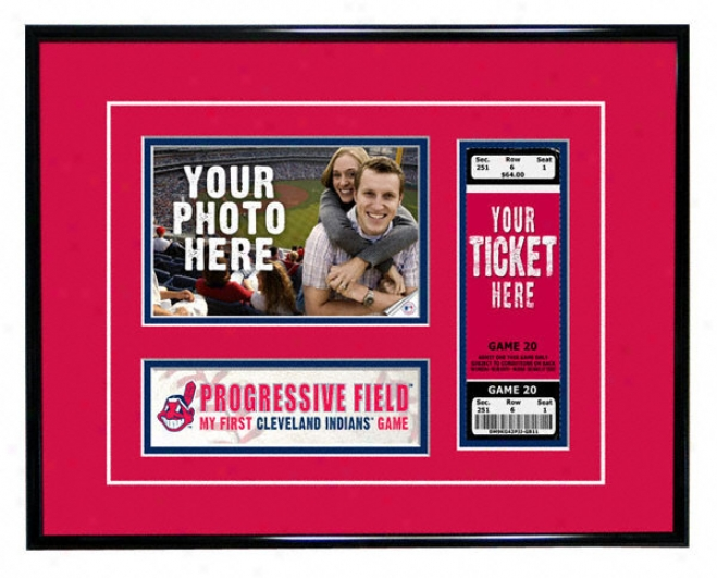 Cleveladn Indians - My First Game - Ticket Frame