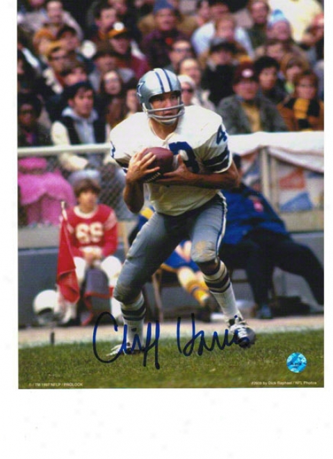 Cliff Harriz Dallas Cowboys Autographed 8x10 Photo Interception