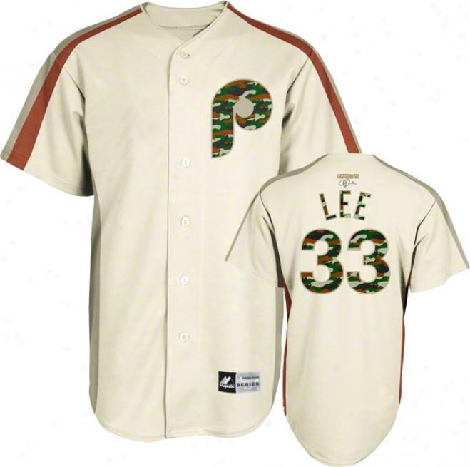Clkff Lee Philadelphia Phillies Majestic Player Designed Signatur3 Series Jersey