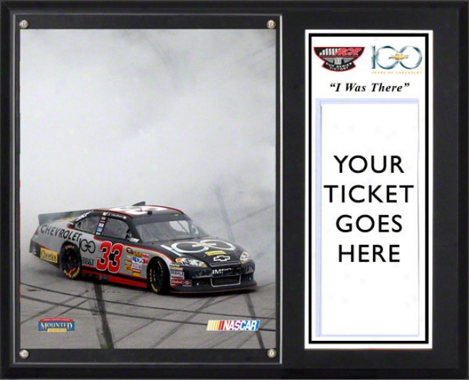 Cllint Bowyer Sublimated 12x15 Plawue  Details: 2011 Good Sam Club 500 Victory At Talladega Superspeedway, &quoti Was There&quot