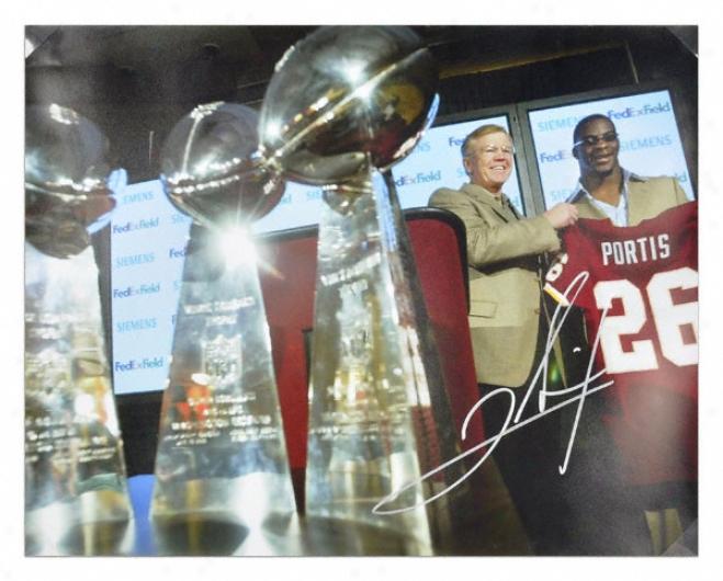 Clinton Portis Washington Redskins Introduction Press Conference 16x20 Autographed Photograph
