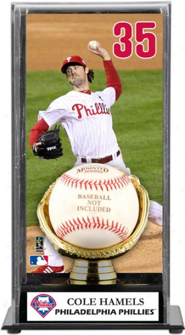 Cole Hamels Gold Glove Baseball Display Case  Details: Philadelphia Phillies