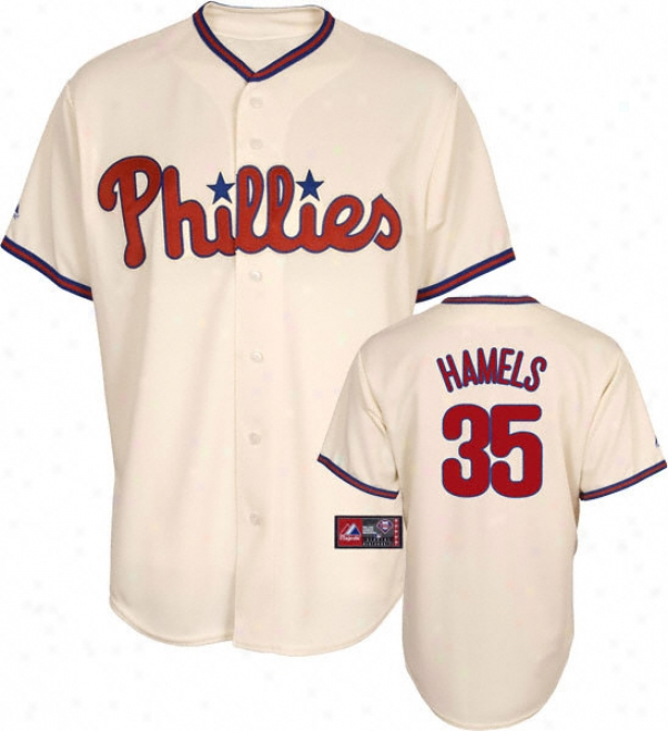 Cole Hamels Jersey: Adult Elevated Alternate Ivort Replica #35 Philadelphia Phillies Jersey