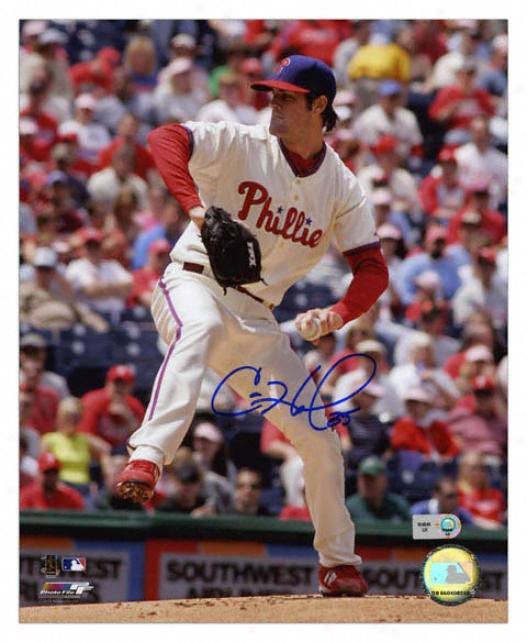 Cole Hamels Philadelphia Phillies - Releasing Ball - Autographed 8x10 Photograph