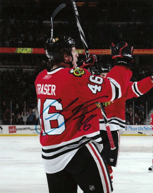 Colin Fraser Chicago Blackhawks - Celebration - Autographed 8x10 Photograph