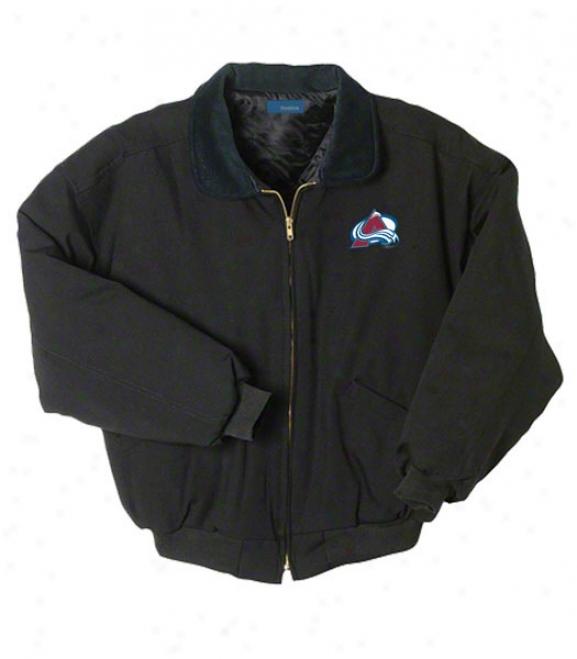 Colorado Avalanche Jacket: Black Reebok Saginaw Jacket