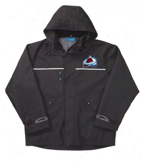 Colorado Avalanche Jacket: Black Reebok Yukon Jacket
