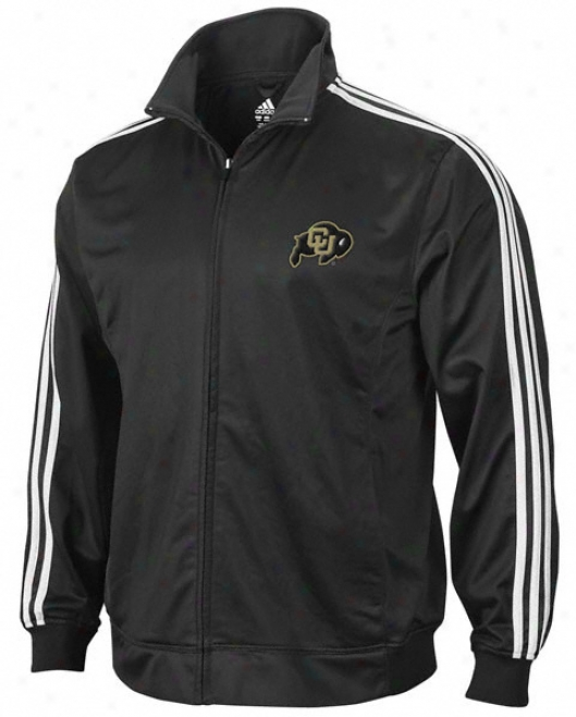 Colorado Buffaloes Adidas Black 3-stripe Track Jacket