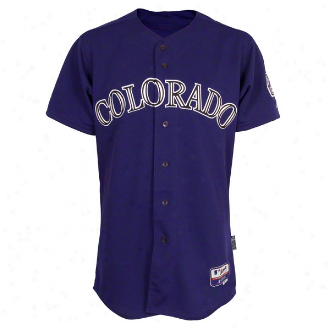 Colorado Rockies Alternate Purple Authentic Cool Baseã¢â�žâ¢ On-field Mlb Jersey