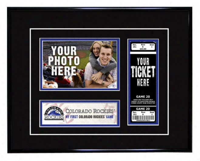 Colorado Rockies - My First Game - Ticket Frame