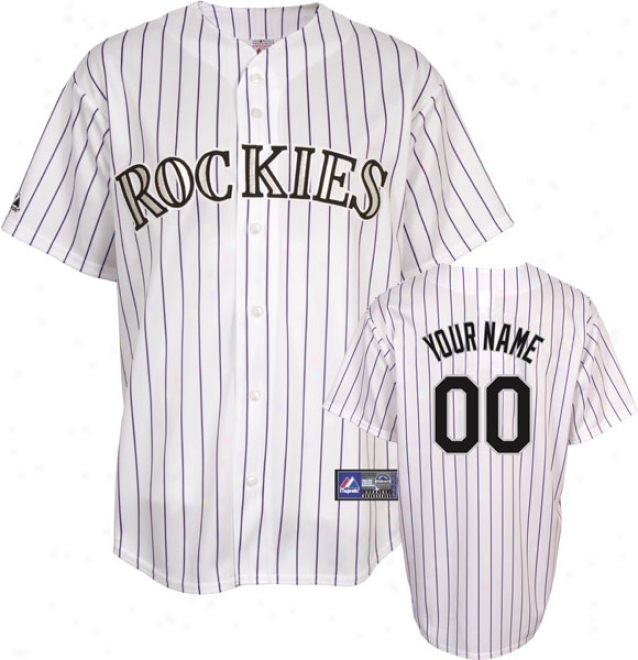Colorado Rockies -personalized With Your Name- Home Mlb Replica Jersey