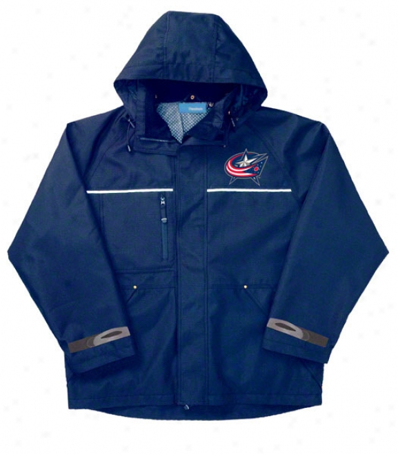 Columbus Blue Jackets Jacket: Blue Reebok Yukon Jacket