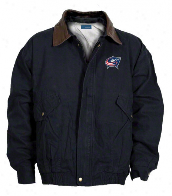 Columbus Blue Jackets Jacket: Navy Reebok Navigator Jacket