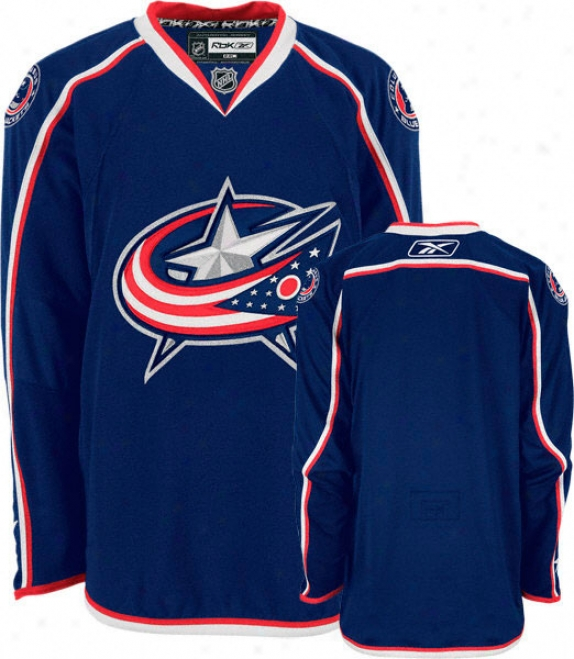 Columbus Blue Jackets -navy- Authentic Rbk Edge Jersey