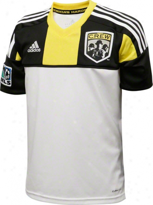 Columbus Crew White Adidas Replica Away Jersey
