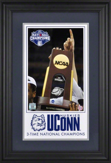 Connecticut Huskies Framed Collage  Details: 3-time, 2011 Ncaa Men's Basketball Champions