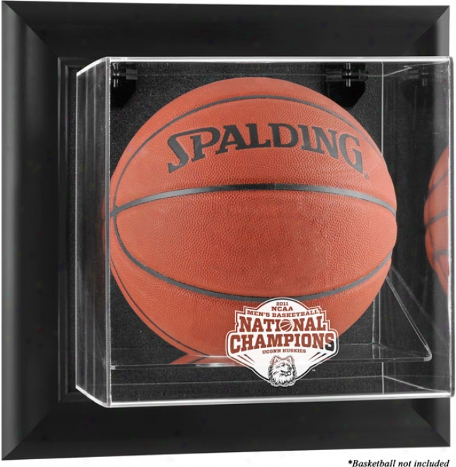Connecticut Huskies Framed Wall Mounted Logo Basketball Display Case  Details: 2011 Ncaa Basketball National Champions