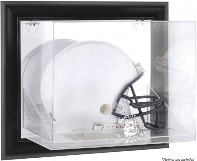 Connecticut Huskies Framed Wall MountedL ogo Helmet Display Case