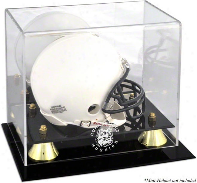 Connecticut Huskies Golden Classic Team Logo Mini Helmet Case