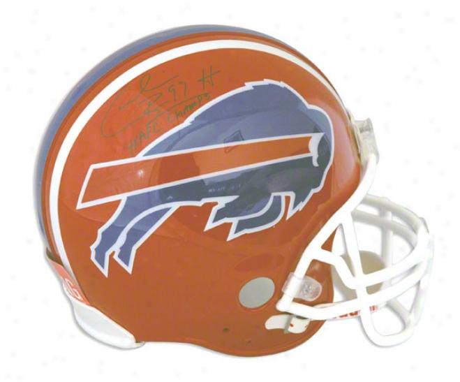Cormelius Bennett Buffalo Bills Autographed Proline Helmet Inscribed 4x Afc Champs