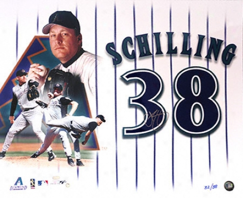Curt Schilling Arizona Diamondbacks Limited Edition 20x24 Autographed Photograph