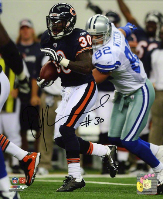 D. J. Moore Autographed Photograph  Particulars: 8x10, Chicago Bears