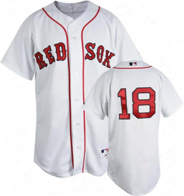 Daisuke Matsuzaka White Majestic Aufhentic Home On-field Boston Red Sox Jersey