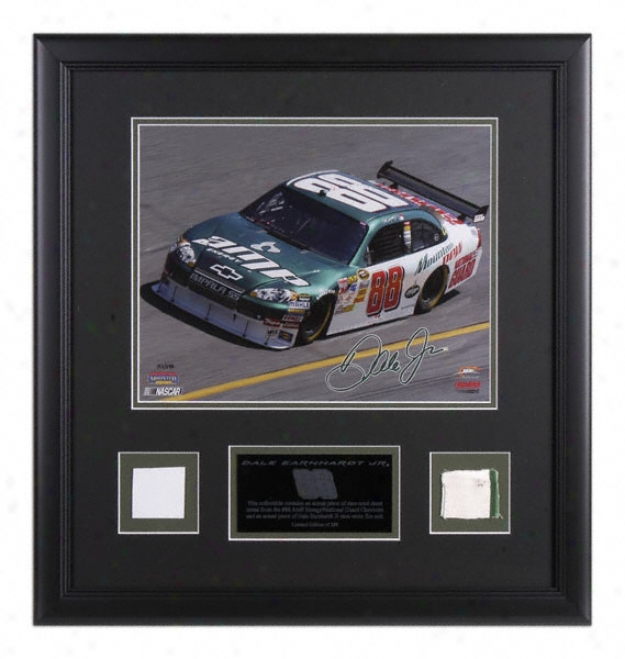 Dale Earnhardt Jr. - Amp - Framed Laserchrome 11x14 Photograph By the side of Sheet Metal And Suif Piece
