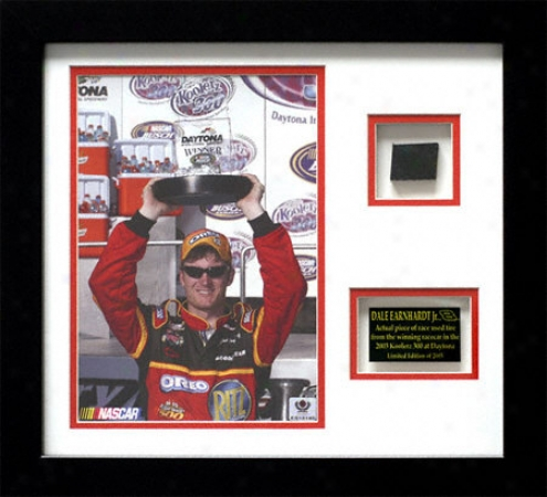 Dale Earnhardt Jr. Framed Photo With Race Used Tire