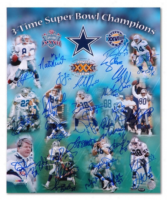 Dalla sCowboys - 3x Sb Champs - Autographed 16x20 Photobraph